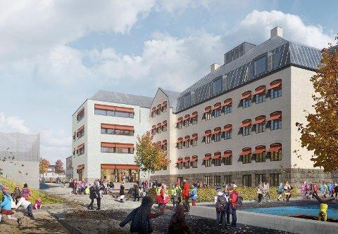 Hvis alt går etter planen står nye Os skole ferdig høsten 2023.