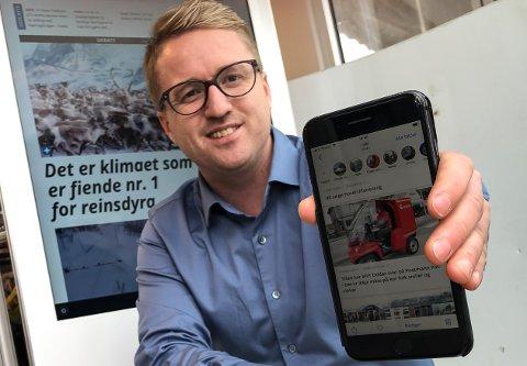 Redaktør Eivind Dahle Sjåstad og Hardanger Folkeblad har no lansert ein ny app.