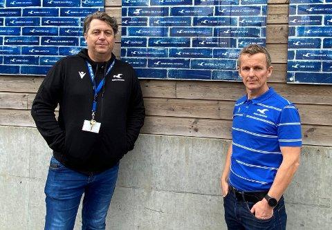 KAN MISTE FLERE: Kjell Åge Kallevik (t.h.) har allerede sagt opp sin stilling hos FKH og daglig leder John Harald Log (t.v.).