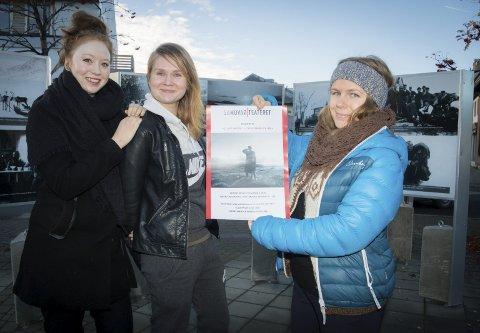 Promotering: Hanne Vassbotn, Reetta Lisko og Theresa Haabeth Holand fra teateret.