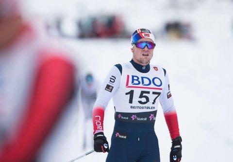 Daniel Stock var den første av i alt ni nordmenn i skandinavisk cup i langrenn. Bildet er tatt ved en tidligere anledning, under åpningsrennet Beitostølen i november.