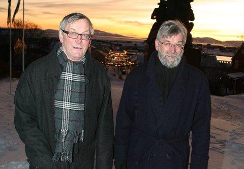 UENIGE: Nils Petter Pedersen er leder av Norsk-finsk forbund (t.v.) og broren Jens Pedersen definerer seg som kvensk. De to er uenige om NRKs nye tilbud som har stort fokus på kvensk.