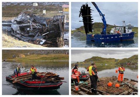 I AKSJON: Det er betydelig arbeid som må til for å fjerne restene av Levergutten.