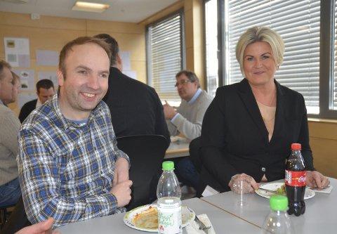 TRIVDES PÅ KONFERANSE: Asbjørn Basnes og Christine Melleby. Alle foto: Roger Ødegård