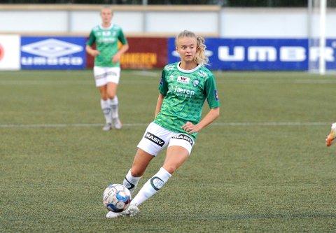 STARTER: Mille Aune har vært inn om ut av Klepps startellever i det siste. Mot Røa spiller 17-åringen høyre back.