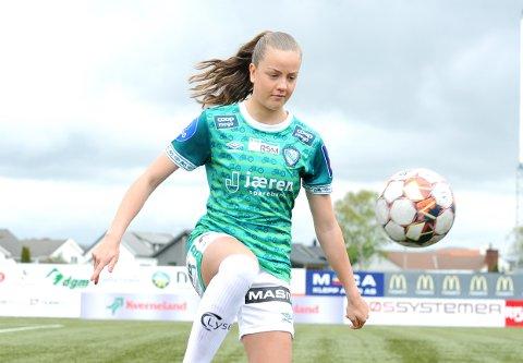 STARTER: Ine Tveit spiller på topp for Klepp mot LSK Kvinner.