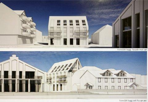 BRATTERE TAK: Slik ser utbyggerne og arkitektkontoret for seg det nye bygget. ILL.: AART Bildetekst