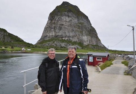 Brødretur: Ove Eckholdt (til venstre) og undertegnede hadde remembertur til barndommens ferieparadis tidligere i sommer.