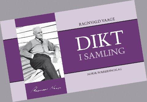 BOKOMSLAG: Slik ser framsida på «Dikt i samling» ut. Dikt av Ragnvald Vaage.