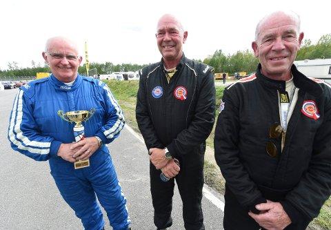 NM-RUNDE: Trioen John A. Johansen (t.v.), Lars Ingebrigtsen og Odd-Andreas Ingebrigtsen skal i aksjon i NM-runden i asfaltracing i helga. FOTO: OLE JOHN HOSTVEDT
