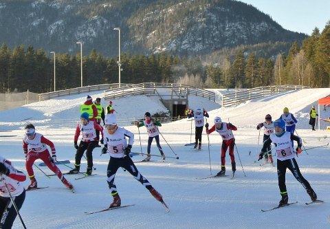 GODE LØP: Mange av Lier IL-løperne gjorde det godt under KM i skiskyting på Lampeland i helgen.