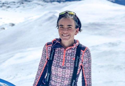 Sprek 40-åring: Helgen før bursdagen tok Gunn Cecilie med seg ektemann og nyinnkjøpte randonee-ski opp til Gaustadtoppen.