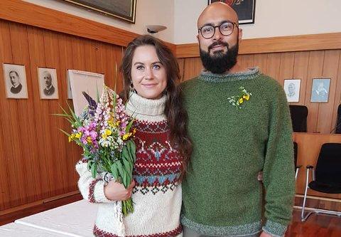 EKTESKAP: Linka Neumann giftet seg med sin Waqas i Vågan rådhus nylig.