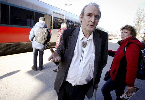 Slutt: Willy Frantzen må konstastere at det nå er slutt for pendlerforeningen.