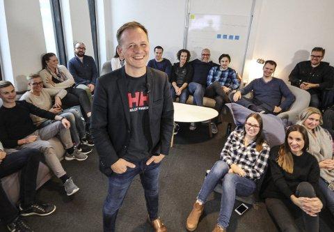 Full fart: På seks år har Kjetil Sinding skapt et mediebyrå som omfatter 40 ansatte. Nå er målet å bli landets største.