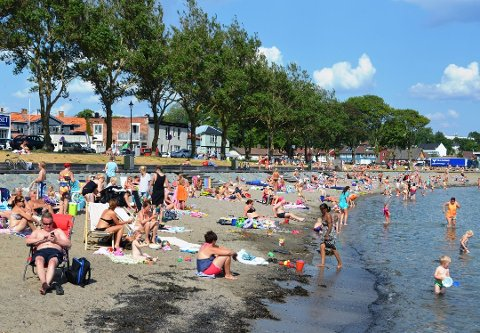 Det kan bli mange fine dager på Sjøbadet i uka som kommer, skal man tro meteorologen.