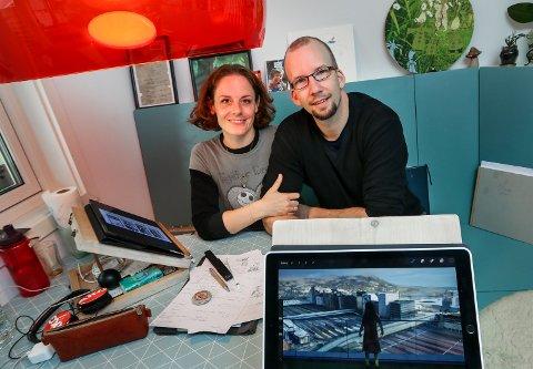 KREATIVT PAR: Sandra Pilny-Lockertsen og Nikolai Lockertsen er illustratører og bor på Ørejordet.