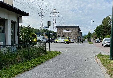 UHELL: I dette krysset ved Contiga langs Osloveien i Moss var det onsdag morgen et trafikkuhell mellom en bil og syklist.
