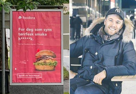 TREKKES: Et skikkelig dårlig stykke arbeid, mener Martin Skaug. Selskapet Foodora sier seg enig og trekker reklamekampanjen i Tromsø.