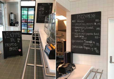 NEI TIL MEDBRAKT: Tromsøbadet krever at du kjøper maten her. Reglene er de samme for kafeen på tørr og våt side.