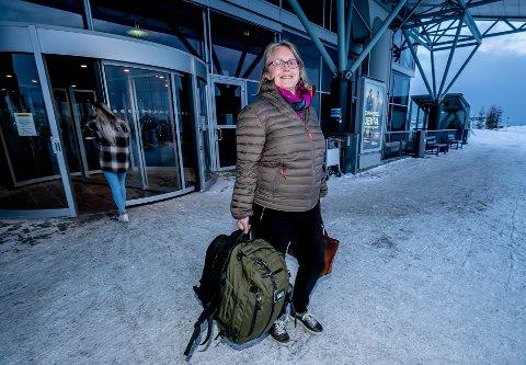 PÅ VEI HJEM: Fredag ettermiddag ankom Anne Siri Albrigtsen Tromsø etter en ukes ferie i Spania. Nå går hun to uker med hjemmekarantene i vente.