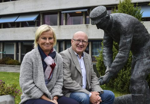 SAMARBEID: Mona Tønnesland Tholin (Sp) er valgt som ny varaordfører, mens Terje Odden (Ap) er gjenvalgt som ordfører.Arkivbilde