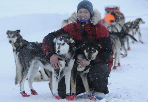 Flott debut: Sivert Kjøsnes og hans hunder med en flott debut i MUSH Synnfjell. FOTO: ØYSTEIN RINGSVEEN