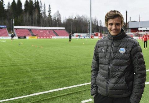 TUNG START: Nicolai Fosso Fremstad har foreløpig ikke fått sjansen til å vise seg fram på A-laget til Kongsvinger. Foto: Knut Befring
