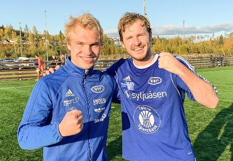 Vardals målscorere i 2-0-seieren mot Skreia; Målscorere: Øystein Larsen og Sondre Olsrud Haugo.