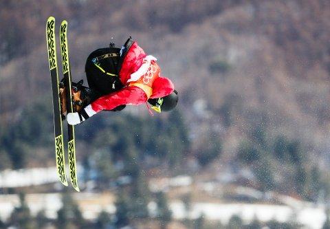 PÅ PALLEN: Ferdinand Dahl ble nummer tre under slopestylerennet i friski i Øtserrike. Her i aksjon under OL i Pyeongchang.
