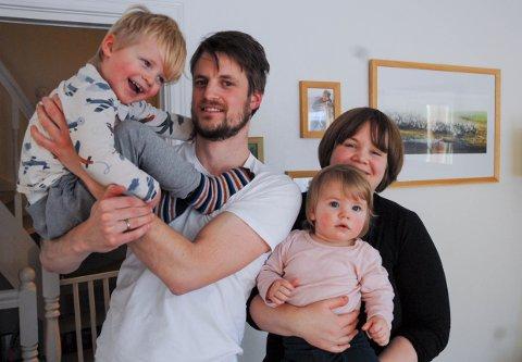Nyinnflyttere: Trond og Cecilie Heidelberg valgte Valby når de kom flyttende fra Tromsø. Kort vei til en liten og naturnær barnehage for Trygve (3) og Sigrid (16 mdn) er viktig for deres valg.