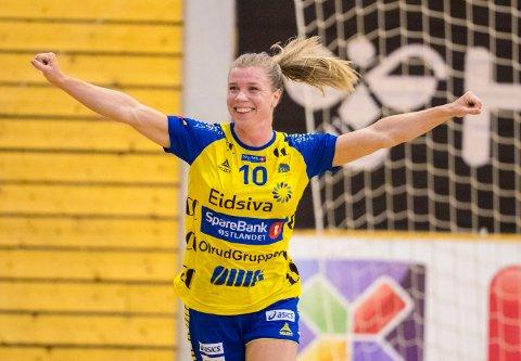 Kristin Venn hadde en god kamp for Storhamar i EHF-cupen lørdag.