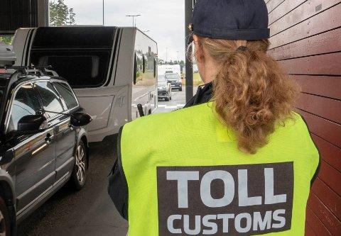 ANMELDT: En person ble fredag anmeldt etter å ha passert Flermoen grenseovergang i Trysil. Bildet er fra en annen grenseovergang.