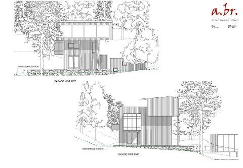 Slik er det nye huset tegnet. Ill.:  Arkitekt Abrahamsen brothers