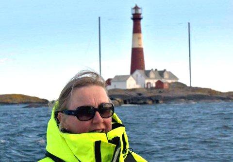 Rita Sundseth Eriksen ble hentet av sønnen på fyret.