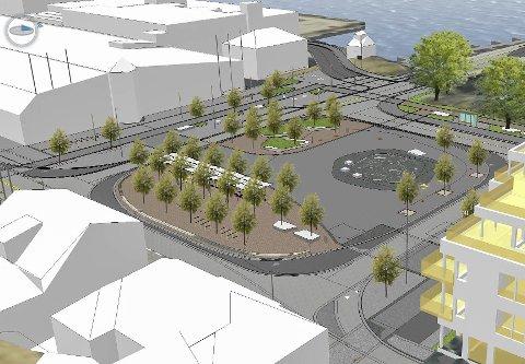 Ny SKISSE: Dette er foreløpig siste nytt fra Statens vegvesen og Bypakke Grenland når det kommer til planene for det framtidige Franklintorget.