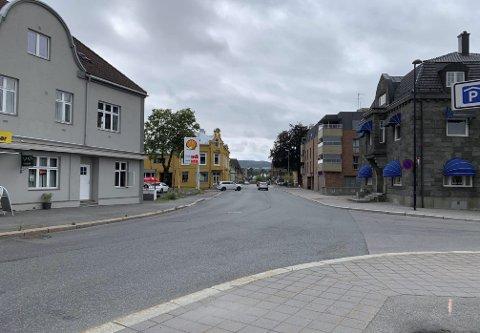 Jernbanegata: Krangelen og volden skjedde et sted i Jernbanegata. Hendelsen bel fanget opp av et overvåkingskamera