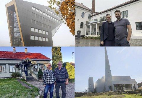NOMINERTE: Fyrhuset til Norrøna fabrikker og Grønstensgate 12 er nominert til Restaureringsprisen 2020, mens Powerhouse Telemark, Reis opp-kirken er blant de nominerte til Byggeskikkprisen. Huset i Hvalenkroken 44 er også nominert, men ikke avbildet her.