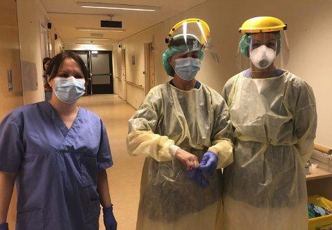 SYKEPLEIERE: Kåss sier at testene utføres av sykepleiere ved kommunens testsenter på St. Hansåsen. Foto: Porsgrunn kommune