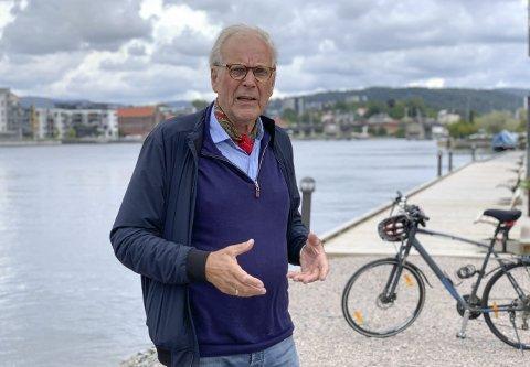 Skuffet: Hovenga-beboer og Ap-politiker Øystein Beyer synes det er skuffende at rådmannen nå foreslår å fjerne snarvei mellom bydelen og sentrum som rekkefølgekrav i fylkesveiprosjektet. – Det har manglet vilje til å finne en løsning, mener han.