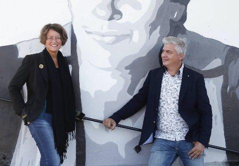 FESTIVAL FOR 7. GANG: Astrid Borchgrevink Lund og Per Erik Buchanan Andersen mener de nå har fått finansiert et grunnlag for festival i år også. De skal levere jentekraft til høsten.