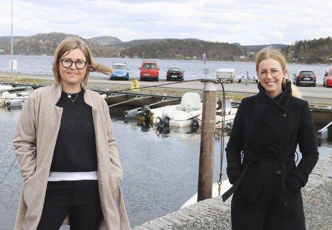 Tråkker til med båtkortesje: Ingeborg Skjønstad og Rikke Eide Arntzen fra 17. maikomiteen i Brevik inviterer til stor båtkortesje fra fjorden utenfor Banken på Øya og inn i Eidangerfjorden på nasjonaldagen.