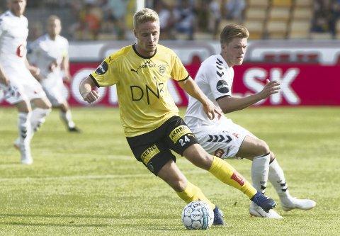 REPRISE? Erik Tobias Sandberg (t.v.) dro Odd-spissen Martin Broberg i sin første seriekamp fra start for LSK. Søndag kan han gjøre det samme, i Skien.