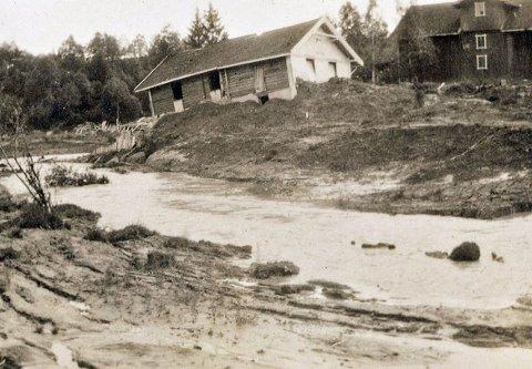 Ole Haugerud fra Nannestad mistet livet, ved Kankedalen like nord for Ask høsten 1924. Han ble aldri funnet. Flere bygninger ble helt eller delvis ødelagt, og 14 husdyr gikk tapt for lokale gårdbrukere.Foto: Ukjent