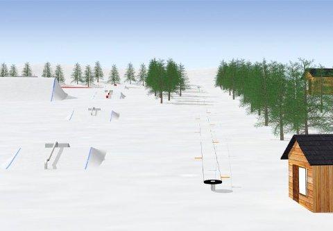 STARTE TIL HØSTEN: Arbeidet med å etablere skipark i Gleinåsen kan starte til høsten, og i hovedtrekk være klar allerede til kommende vinter.