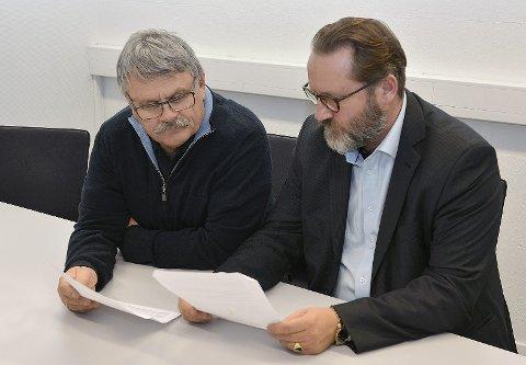 Kritiske: Runar Brekke (til venstre) og Finn Egil Holm er svært kritiske til både innhold og prosess i forbindelse med detaljreguleringsplan for Skafjellåsen Boligområde.