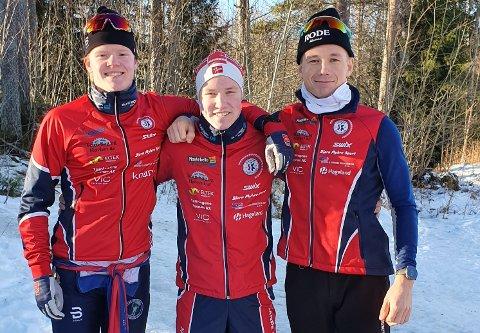 Sande Sportsklubbs 2. lag: Fra venstre Andreas Sørsdal, Eirik Bonden,  Martin Galleberg.