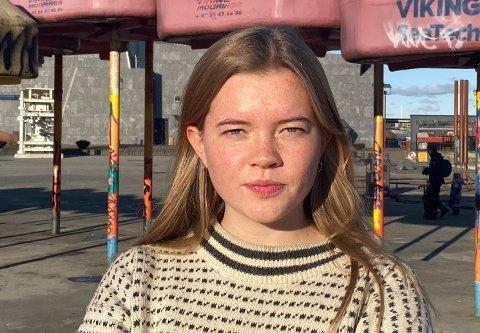 Leder Vårin Sinnes av Grønn Ungdom Rogaland, er utilfreds med kommunens vedtak om å være positive til olje- og gassnæringen.