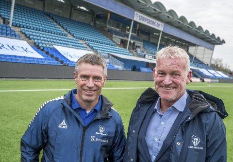 UTVIKLING: S08s sportssjef Thomas Berntsen kunne torsdag presentere   Erland Johnsen som ny utviklingssjef.