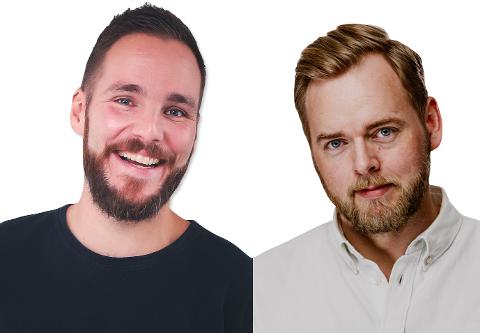 EKSKLUSIVT SHOW:  Komikerne Erlend Osnes (t.v.) og Tore Sagen (t.h.).